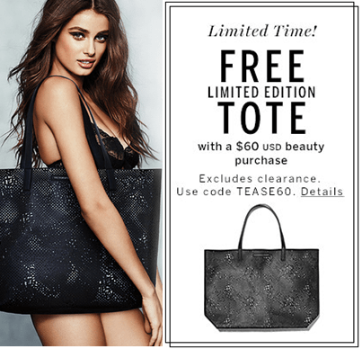 Free Victorias Secret Tote With Purchase In Store