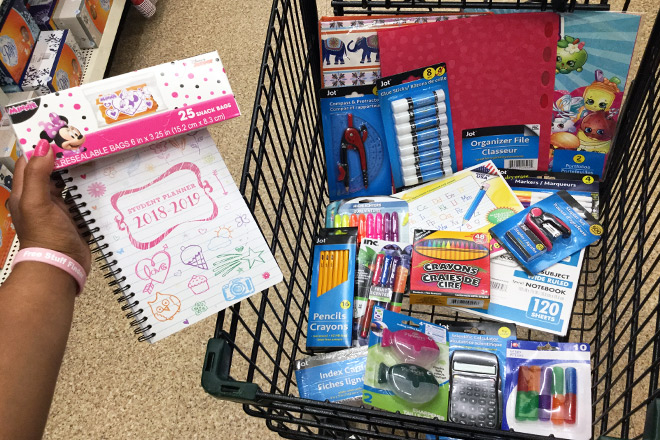 School Supplies At Dollar Tree For JUST 1 Shop Notebooks Folders Binders Amp Crayons