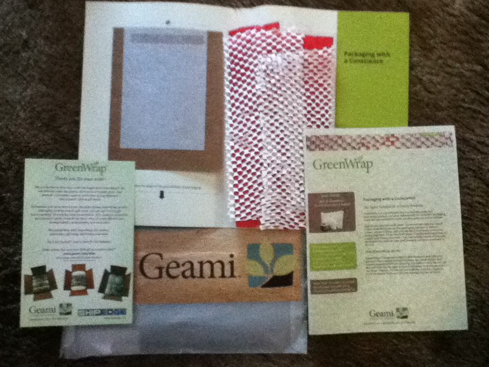 Free GreenWrap packaging sample, Fairytale Brownies Winter