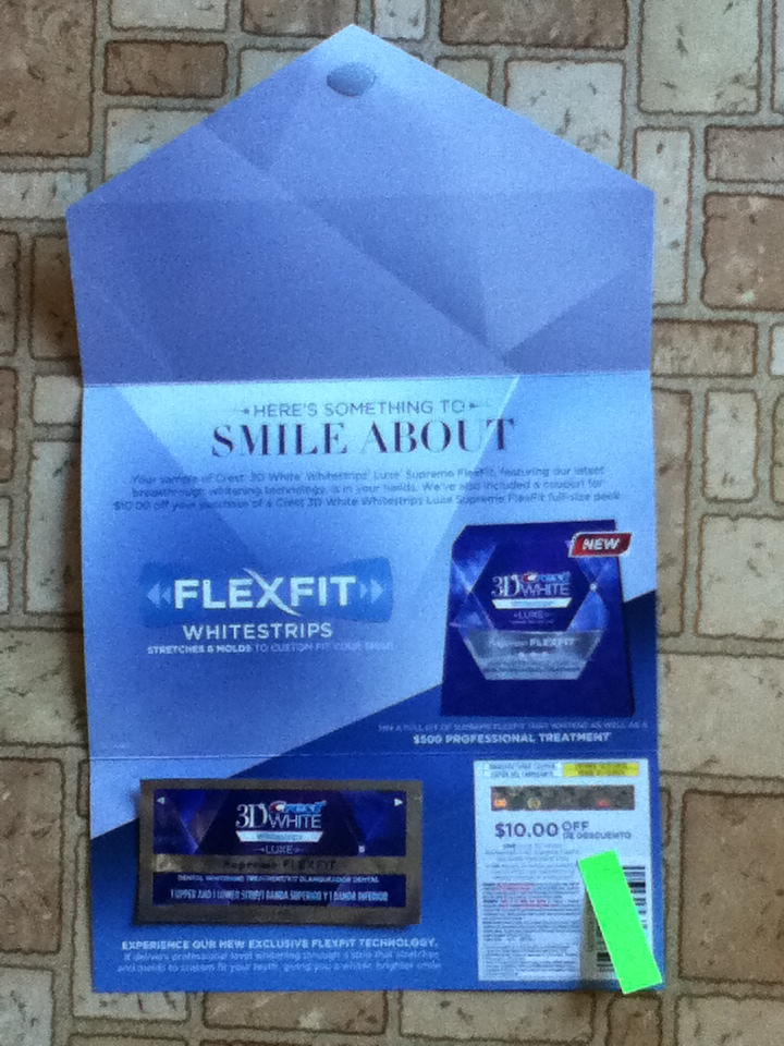 Free Sample Of New Crest 3D White Stripes Luxe Supreme Flexfit From Procter Gamble Fit Better And You Can Fill It Working