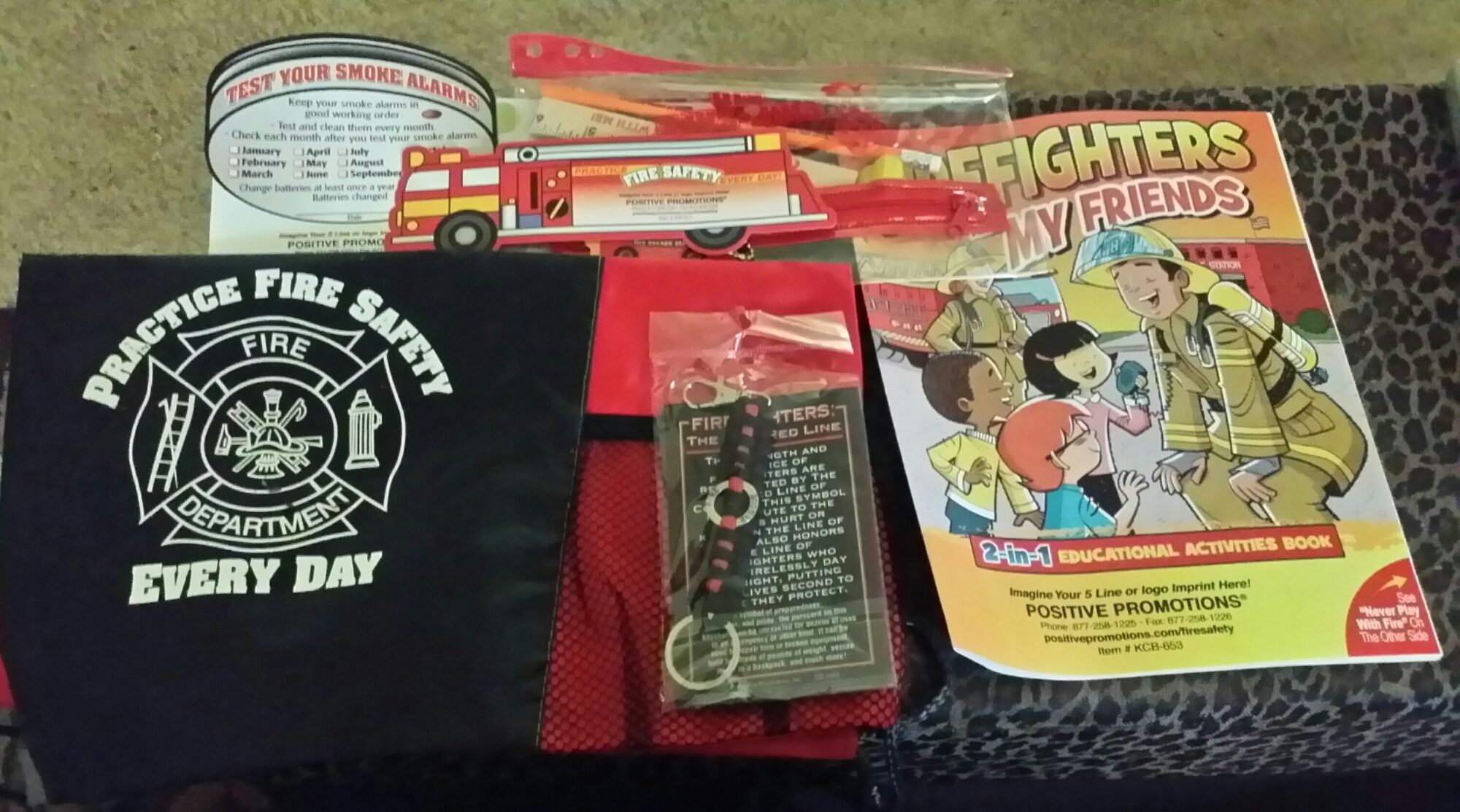 Free fire prevention week stuff free stuff times what i got for Town and country magazine sweepstakes