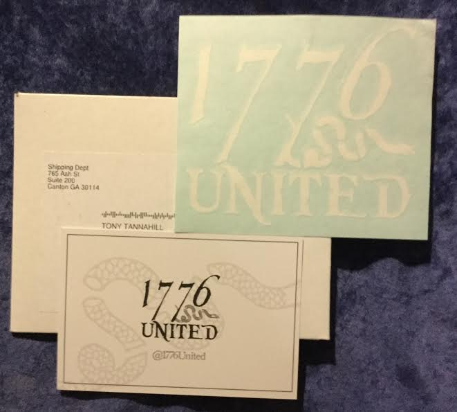 Free 1776 United Sticker