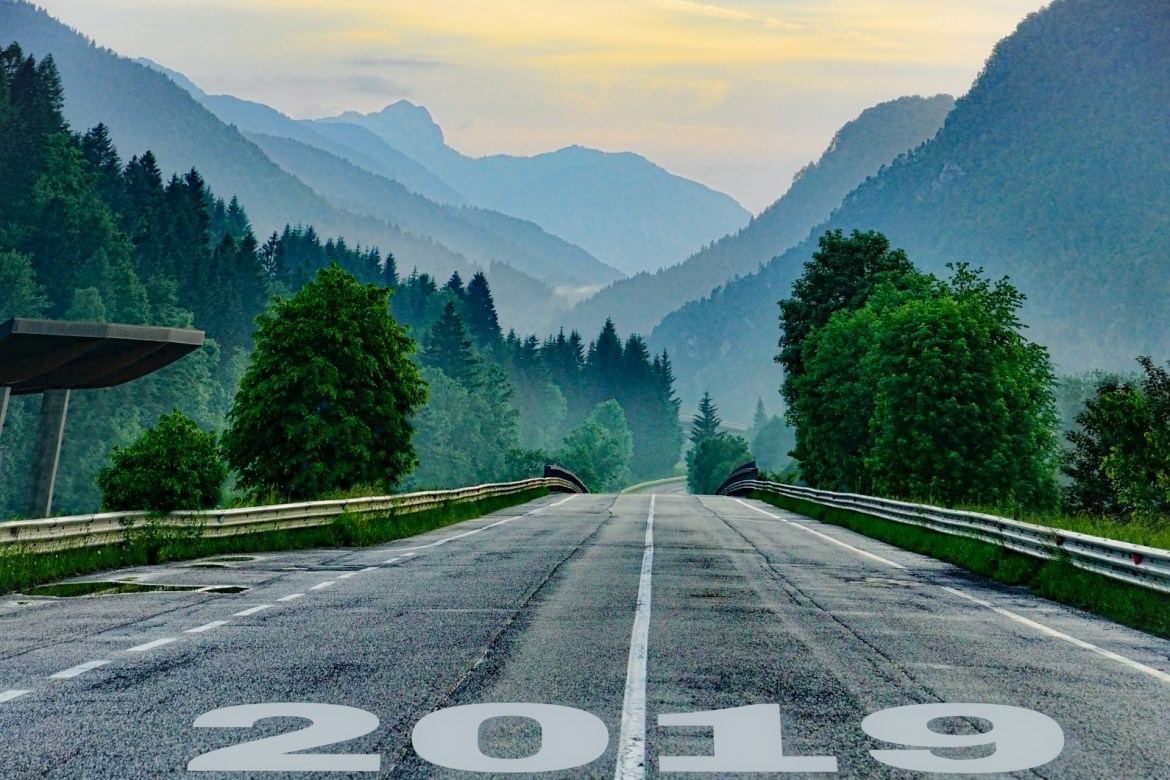2019 on a mountain highway road