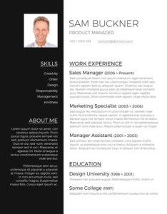 110  Free Resume Templates for Word  Downloadable    Freesumes Two Tones Resume Design