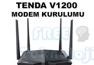 TENDA V1200 MODEM KURULUMU