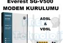 Everest SG-V500 MODEM KURULUMU