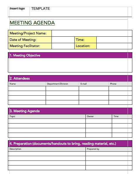 Minute Notes Template. Meeting Minutes Template Free Printable