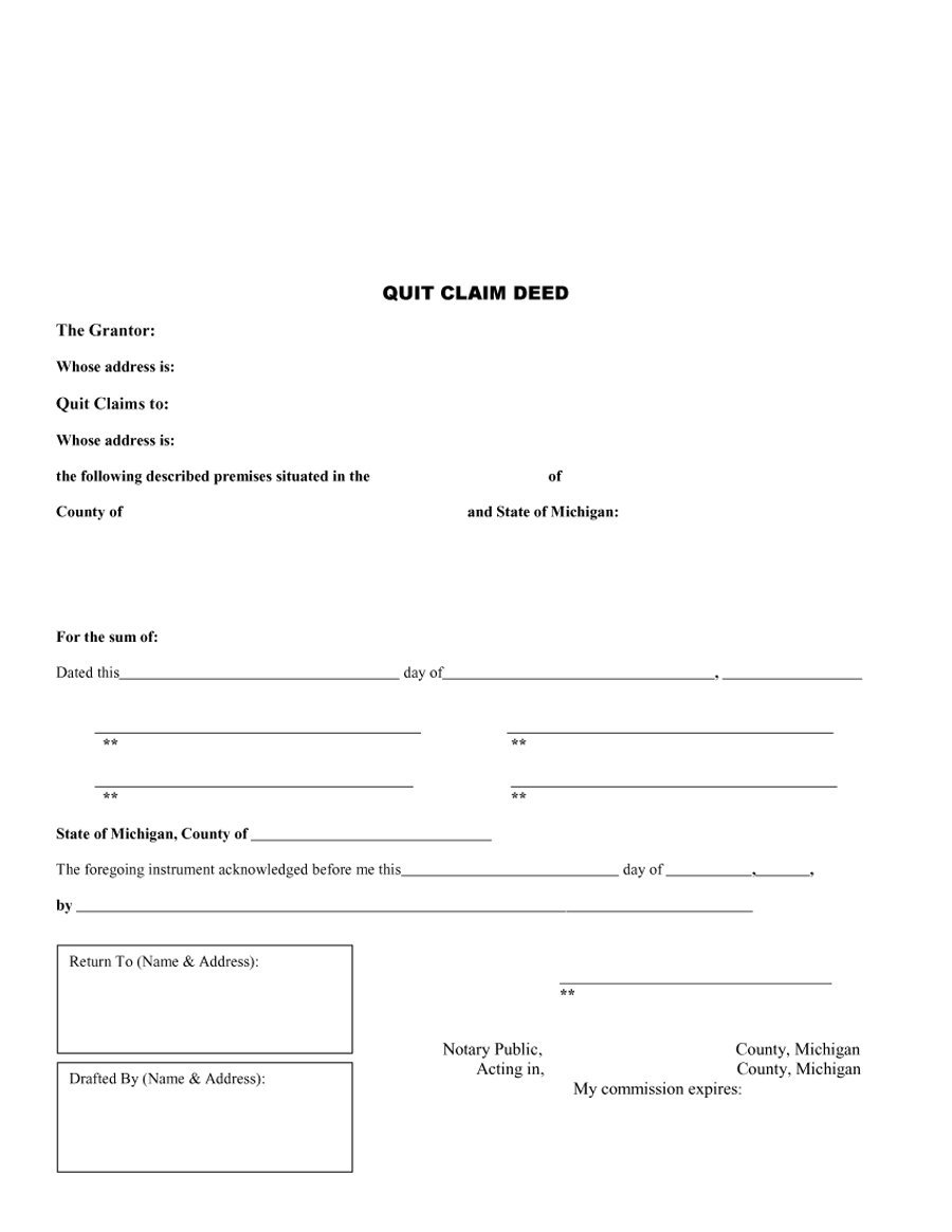 quick claim deed form free download  Deed Template. form 13 free examples format sample. quitclaim ...