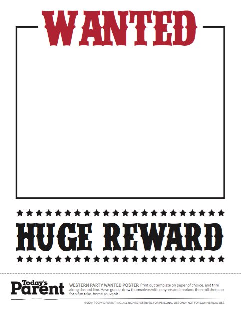 Champlain College Publishing  Most Wanted Sign Template