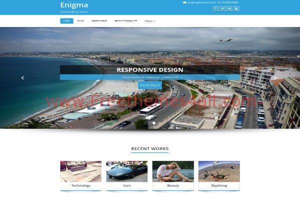 Multipurpose Responsive Blue WordPress Theme