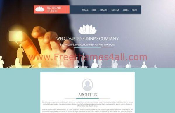 Responsive Clean Business E107 Theme