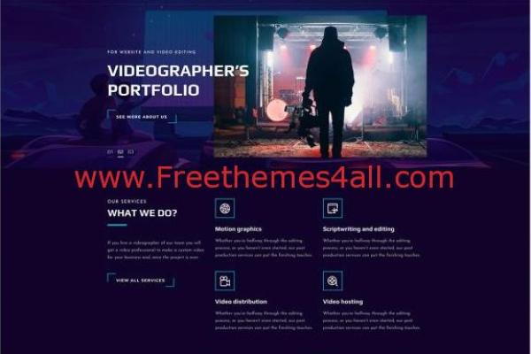 Free Responsive Videograph CSS Template