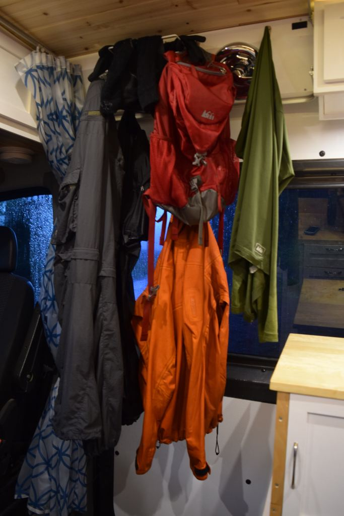 Wet clothes drying space built right in