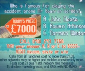 ITV Dickinson's Real Deal competition question ends Monday 17 March 2014