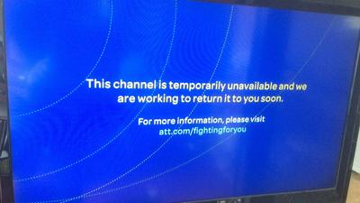 Here's what subscribers of AT&T's U-verse television service found when they tuned to Miami's Fox station WSVN to watch Sunday's NFC divisional playoff game. With the conference championship looming Sunday, a dispute over fees between the two companies remains unresolved. (Ron Hurtibise / Sun-Sentinel)