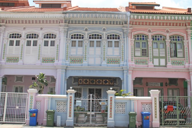 Well kept terrace houses in Joo Chiat/Katong
