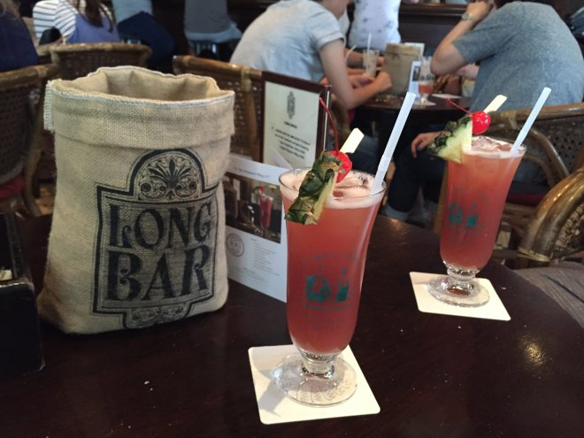 Singapore Slings at the Raffles