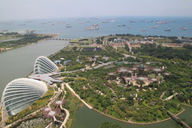 The magnificent view from the Marina Bay Sands observation deck