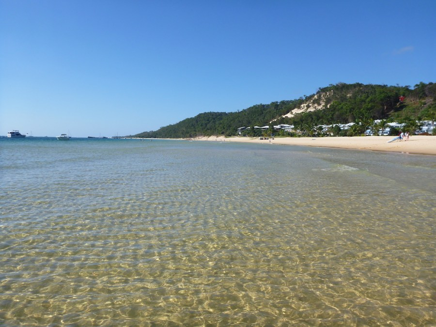 Beach in front of Tangalooma Resort