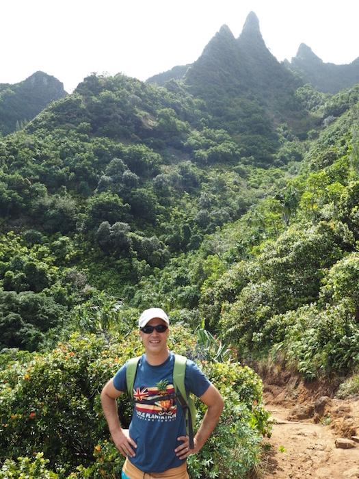 Hiking on the Kalalau trail