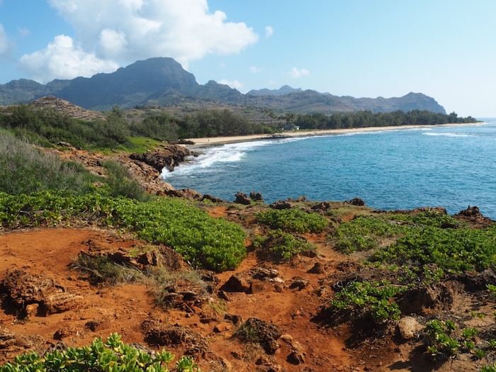 View from Punahoa Point on the Maha'ulepu Heritage trail