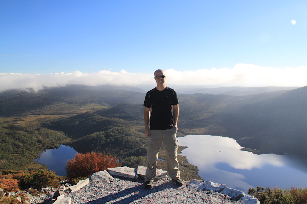 Simon at Marion's lookout