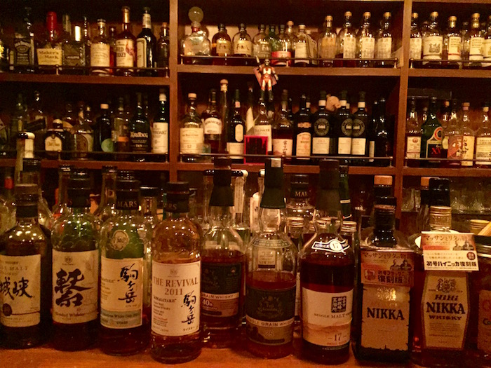 Many whiskeys to choose from!