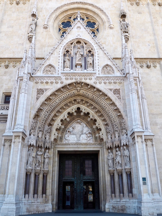 The beautiful entrance portal of the cathedral