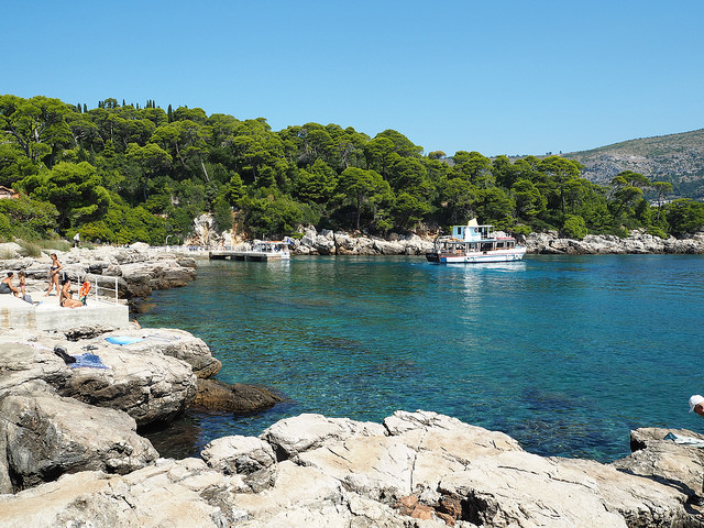 Beach on Lokrum Island