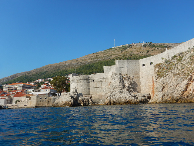 View of the walls from the kayak