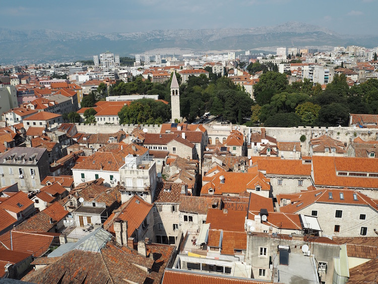 View over the old town from the bell tower