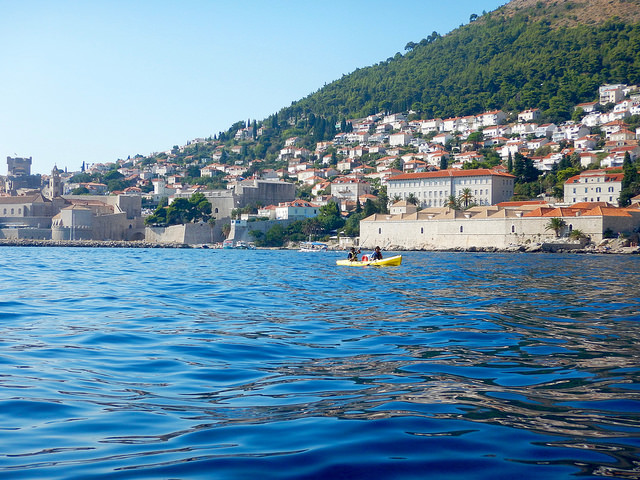 Kayaking on the beautiful Adriactic sea