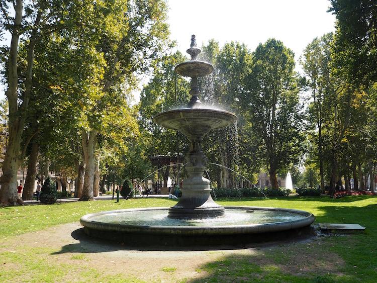 Fountain in Nikola Subic Zrinjski Square