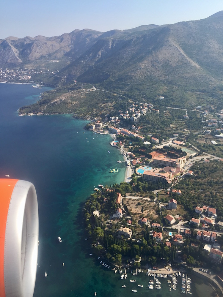 View of Dubrovnik at landing!