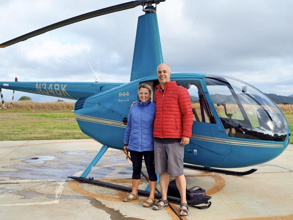 Helicopter ride Kauai.