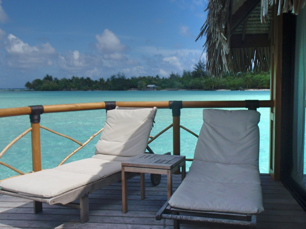 Our private deck with direct lagoon access.