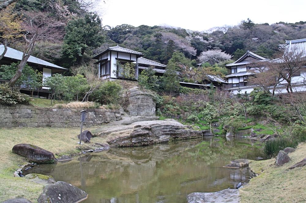 The pond behind Jochi-ji temple.