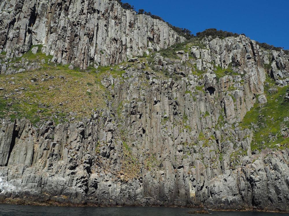 Some of the many cliffs on the Tasman Peninsula coastline.