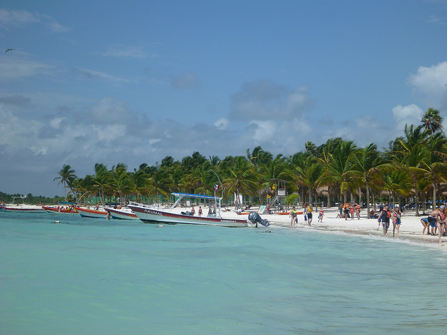 The stunning Akumal beach.