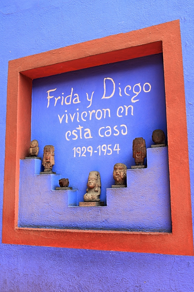 Casa Azul, the old house of Frida Kalho.