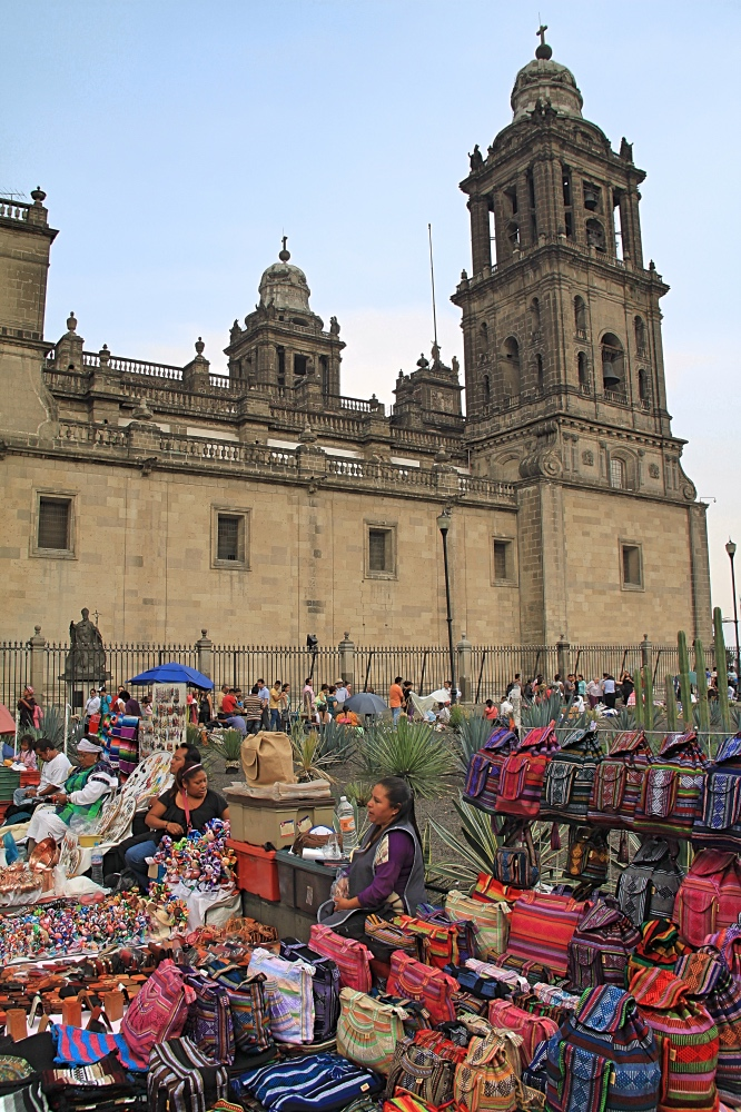 Craft Market by the cathedral in Mexico City.