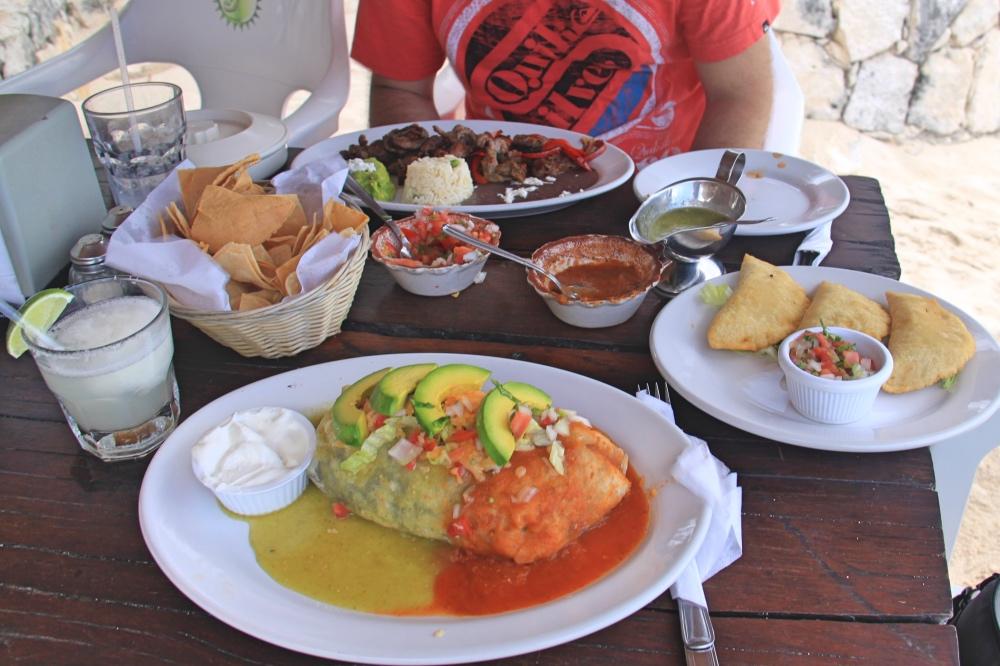 Mexican feast on the beach!