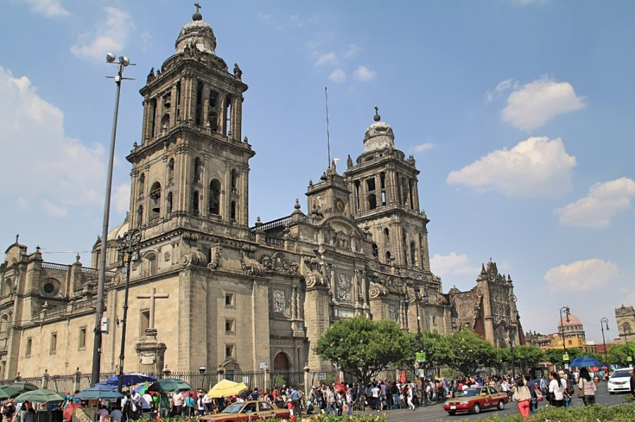 The City Metropolitan Cathedral in Mexico.