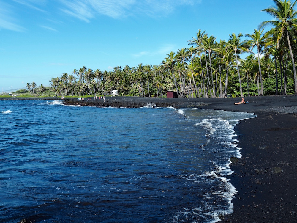 Beautiful black sand beach.