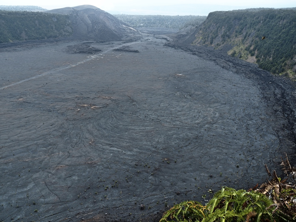 The Kilauea Iki Crater.