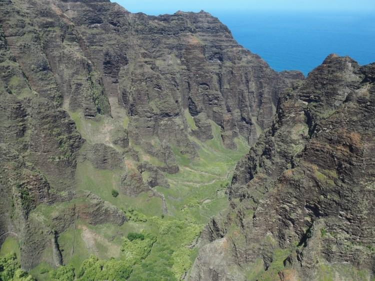 The Na Pali Coast.