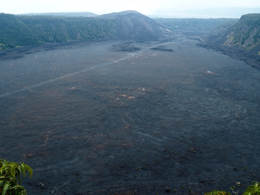 The Kīlauea Iki crater.