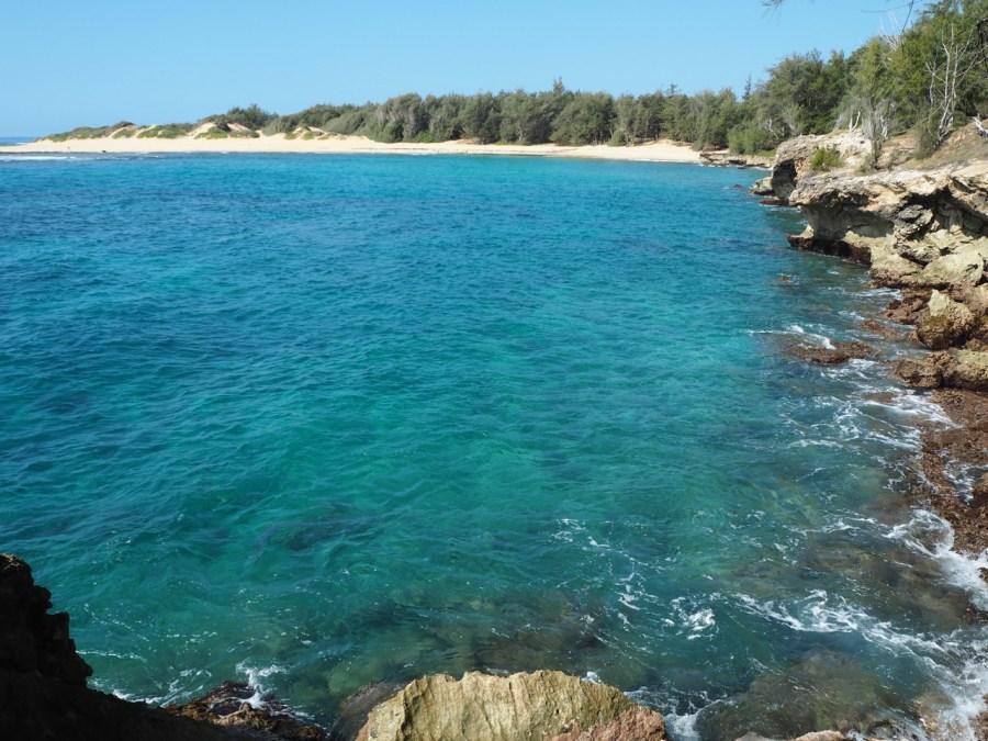 Stunning blue water on the Mahaulepu heritage trail.