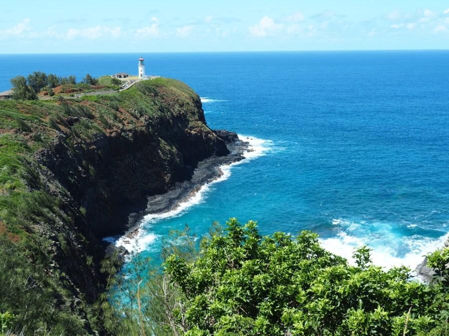 The Kilauea Lighthouse lookout.