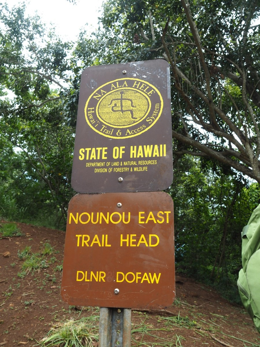 The Nounou East trail head.